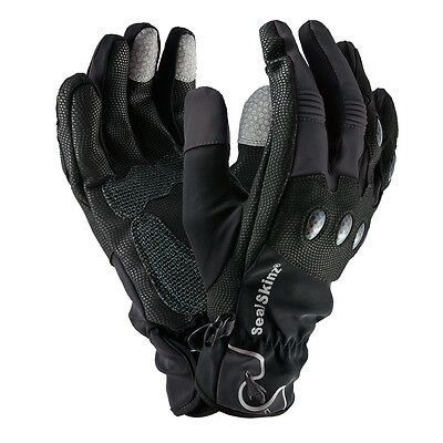 SEALSKINZ Unisex Sealskinz Lightweight Motorcycle Glove Black-Grey NEU