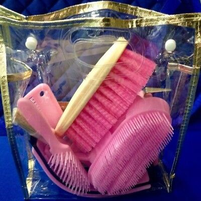 Horse & Pony Grooming Kit In Pink Purple Or Blue - 9 Piece  Set