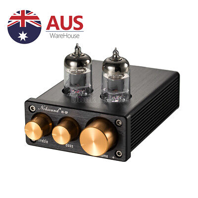 Nobsound NS-10P Mini 6J1 Vacuum Tube Pre-Amp HiFi Home Audio Preamplifier Black