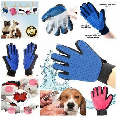 2X Cleaning Brush Magic Glove Pet Dog Cat Massage Hair Removal Grooming Groomer