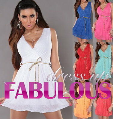 New Sexy 8 10 Women's Mini Dress Party Clubbing Evening Summer Clothing S M