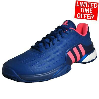finest selection f9637 cce6c Adidas Barricade 2016 Boost Men s Tennis Shoes Court Fitness Gym Trainers  Blue