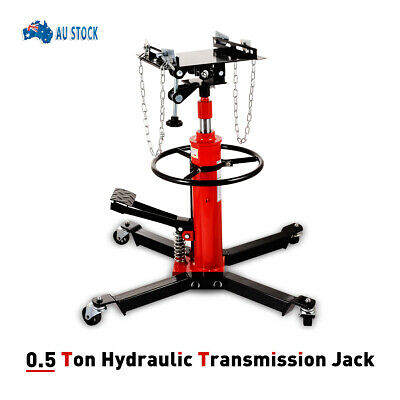 New 0.5 Ton 1100LB 2 Stage Hydraulic Transmission Jack Stand Lifter Hoist