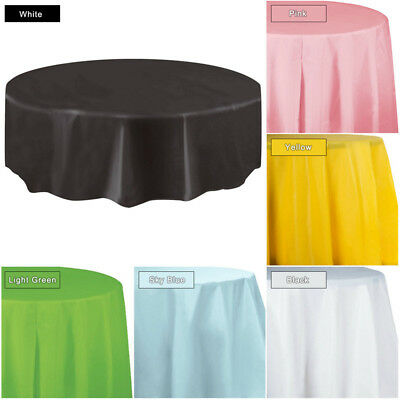 84 inch Round Tablecloth Table Cover for Banquet Wedding Party Decor Disposable