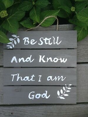 Wooden Scripture Art Wall Art Home Decor Hand Stained Hand Painted 10 X10
