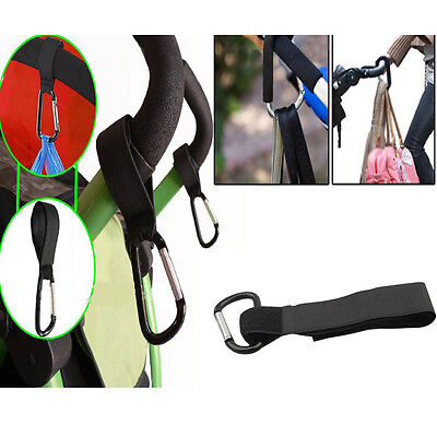 Buggy Clips Mummy Universal Pram Pushchair Shopping Bag Hooks Straps Pack of 1