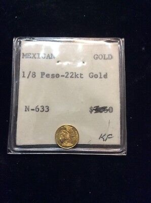 Mexican Gold, 1/8 Peso, 22kt Gold, N-633