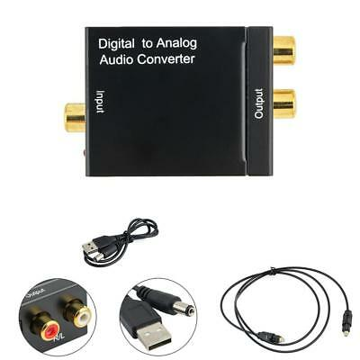 Digital Optical Coaxial Toslink Signal to Analog Audio Converter Adapter RCA QT