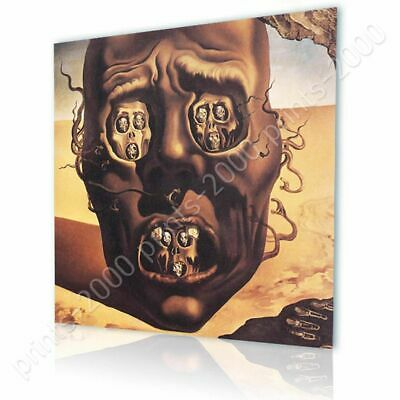 The Face Of War Skull by Salvador Dali   Ready to hang canvas   Wall art paint