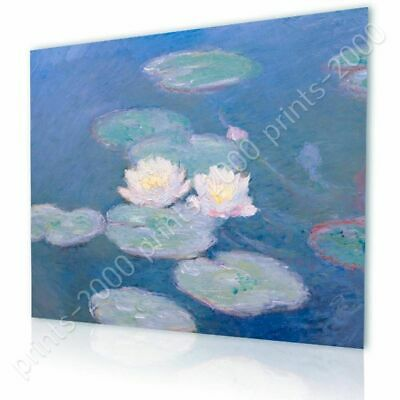 Water Lilies by Claude Monet | Ready to hang canvas | Wall art oil painting HD