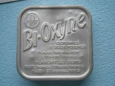 BI OXYNE METAL CASE VINTAGE TIN BOX FRANCE PARIS toothpaste Dental Powder
