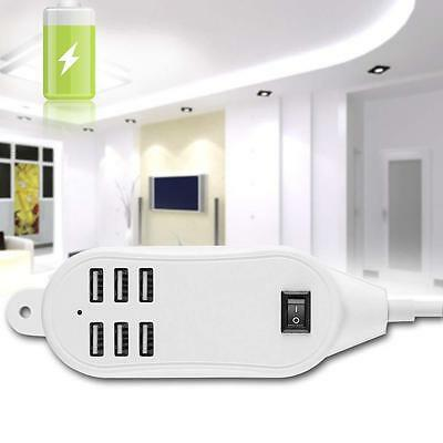 6- Port USB Desktop Multi function Fast Wall Charger Station AC Power Adapter GA