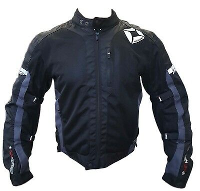 Motorcycle Mens Jacket CE Approved 600D Cordura Mesh Protective Riders Jacket
