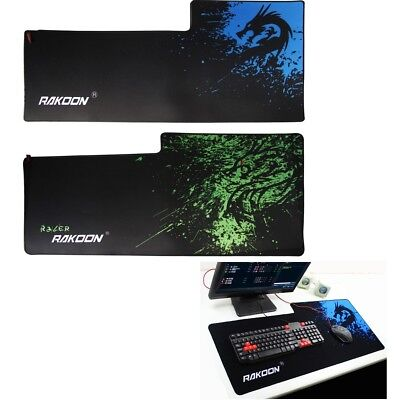 Large Size Gaming Mouse Pad Desk Mat Extended Anti-slip Rubber Mousepad 90x40cm