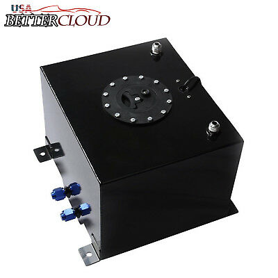 15.5 GALLON LIGHT PERFORMANCE BLUE COATED ALUMINUM FUEL CELL TANK+LEVEL SENDER