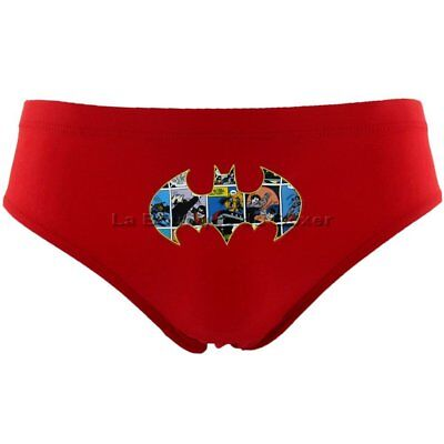 DC COMICS Slip Bain Moulant Garçon BATMAN Rouge MARVEL