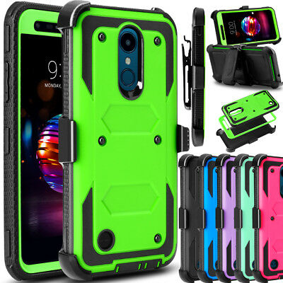 For LG Xpression Plus/K30 Phone Case Shockproof Hybrid Holster Clip Stand Cover