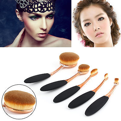 Vander Makeup Brushes Set 5PCS Fashion Toothbrush Beauty Shaped Oval Cream Puff