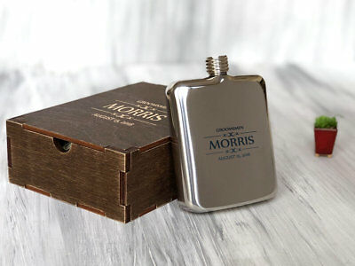 Best Men Gift Personalized Flask Unique Wedding Gift for Groomsmen Wedding Party