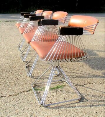 Iconic Design Swivel Dining Chairs Rudi Verelst Novalux Delta Belgium Space Age