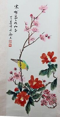 Original Chinese Scroll Painting Chinese Painting China Feng Shui Hand Painted
