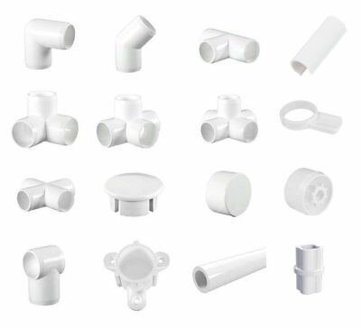 "White PVC Furniture Grade Pipe & Fitting Imperial 1/2"", 3/4"", 1"", 1 1/4"", 1 1/2"""