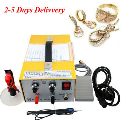 110V Jewelry Welding Machine Electric Pulse Sparkle Spot Welder Platinum Stone