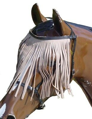 Horse/Pony Leather Fly Veil Headstall Various Colours Pony Cob Full X-Full ~