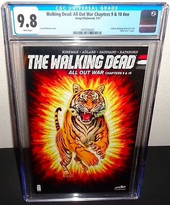 The Walking Dead All Out War Comic Book Chapters 9 & 10 Sdcc Variant Cgc 9.8
