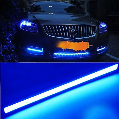 2X 17cm 9W Car Daytime Running LED COB Daylight Kit Super bright Lamp blu pro