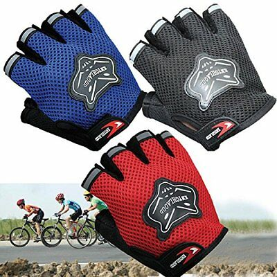 Kids Children Cycling Short Gloves MTB BMX Bike Bicycle Gel Protect Half Finger