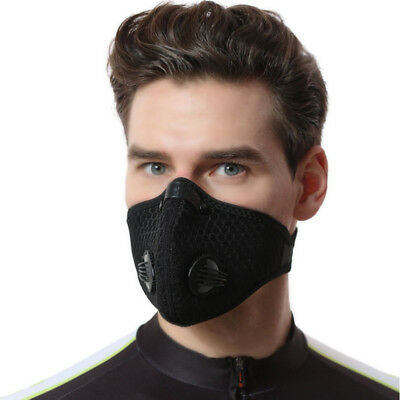 Half Face Respirator Mask Dust Proof Filtered Activated Carbon Filtration New