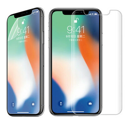 Front+Back Nano Ultra Silm Anti Explosion Screen Film Protector Fr IPhone X 8 UK