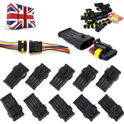 2/3PIN WAY CAR Auto Waterproof Electrical Wire Connectors ... on