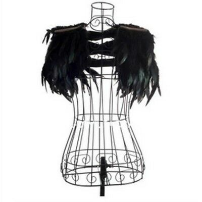 Unisex Fluffy Rooster Feathers Waistcoat Jazz Rock Stage Costume Shoulder Decor