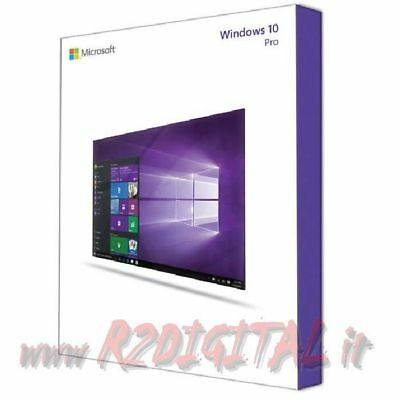 WINDOWS 10 PRO ESD + ADESIVO con DVD PRO 32 64 ORIGINALE MICROSOFT UNIVERSALE PC