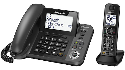 Panasonic Corded + Cordless Phone With Answer Machine Kxtgf380Azm