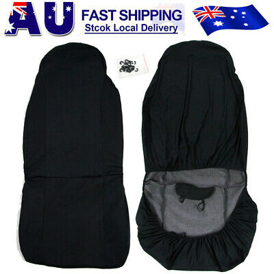Universal Car Seat Covers Full Front Seat Covers Back Head Rest Protector Black