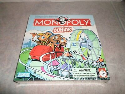 New ! Monopoly Jr Junior Board Game 2005 Money Math Number Learning Bank Finance