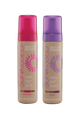 Sunkissed Self Tan Dark Medium Mousse 200ml