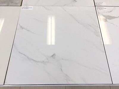 Carrara Glazed Polished Porcelain Floor Wall Tiles 600x600mm