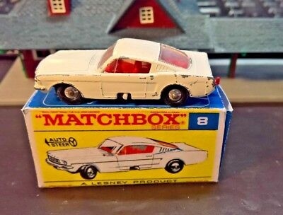 Matchbox Lesney No8 Ford Mustang Fastback,  boxed