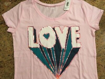 2294a90e62170 OLD NAVY GIRLS LOVE T-Shirt Size XL 14 Brand New w Tags -  3.99 ...