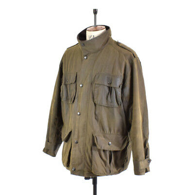 Men's BARBOUR TROOPER Brown WAXED COTTON Shooting Farming Sports Jacket XL