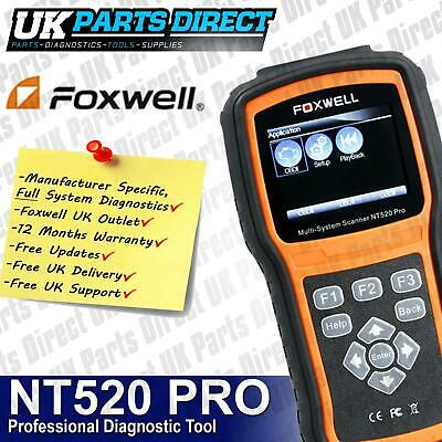 Aston Martin FULL SYSTEM PROFESSIONAL Diagnostic Scan Reset Tool - Foxwell NT520