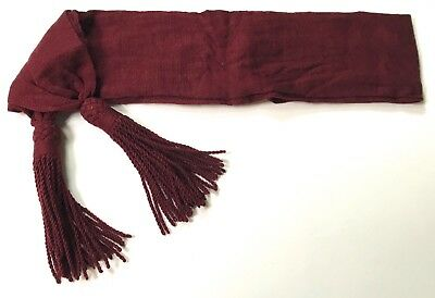 Civil War Csa Confederate Nco Maroon Wool Waist Uniform Sash- Infantry