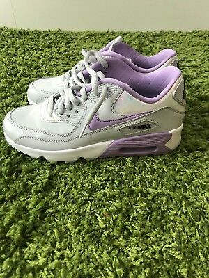 best sneakers f68d1 091f4 Womens Girls Nike Air Max 90 SE LTR Pure Platinum   Urban Lilac Girls  859633002