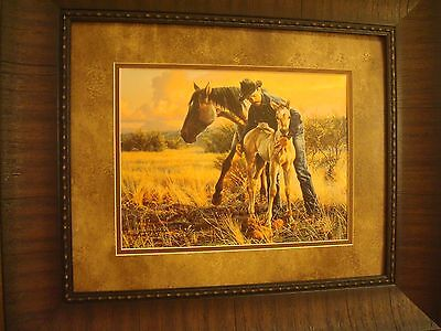 "Tim Cox Framed ""The New Foal"" Open Edition Print"
