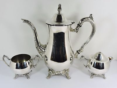 ONEIDA DU MAURIER Silver Plated Coffee Set - $17.99   PicClick