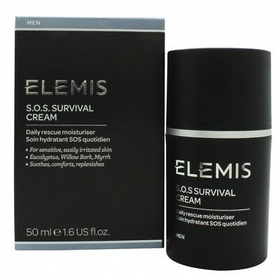Elemis - SOS Survival Cream - 50ml/1.7oz 3 In1 USB Rechargeable Electric Facial Cleaning Set Brush Face Cleaners Scrubber Skin Care Clean Massager beauty tool Hot